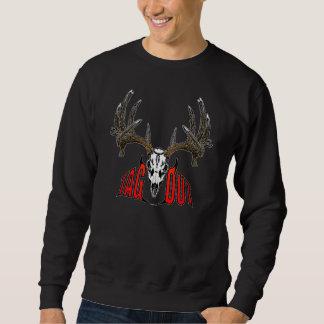 Whitetail deer skull pull over sweatshirts