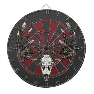Whitetail deer skull vintage dartboard