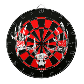 Whitetail deer skull w dart board
