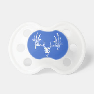Whitetail deer skull w baby pacifiers