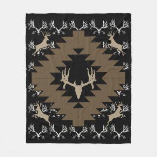 Whitetail deer skull w fleece blanket