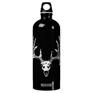 Whitetail deer skull w SIGG traveller 1.0L water bottle