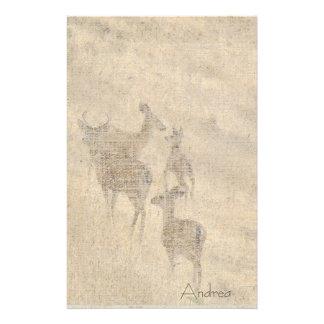 Whitetail Deer Wildlife Animals Fawns Custom Stationery