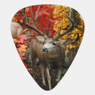 Whitetail In Autumn Guitar Pick