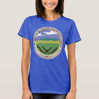 Whitetop Seal/Logo on Flag Blue Background T-Shirt