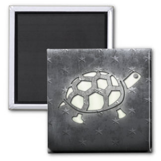 Whitewashed Turtle Magnet