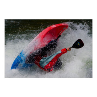Whitewater Kayak Photo  Poster