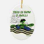 Whitewater Kayak Roll Christmas Tree Ornament
