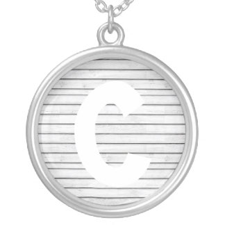 WhiteWoodSlats | Wrapping Papper Seamless | Stripe Silver Plated Necklace