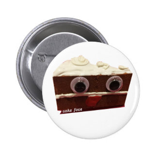 whitey chocolate cake face with logo 6 cm round badge