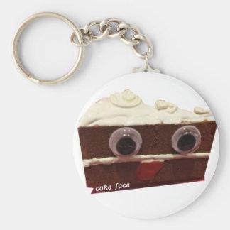 whitey chocolate cake face with logo basic round button key ring