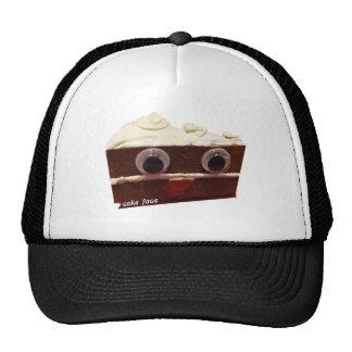 whitey chocolate cake face with logo cap