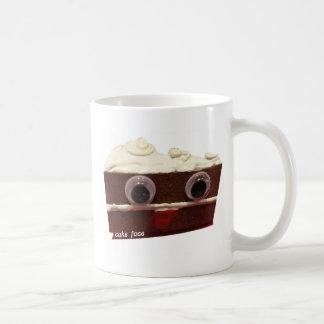whitey chocolate cake face with logo coffee mug