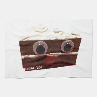 whitey chocolate cake face with logo hand towel