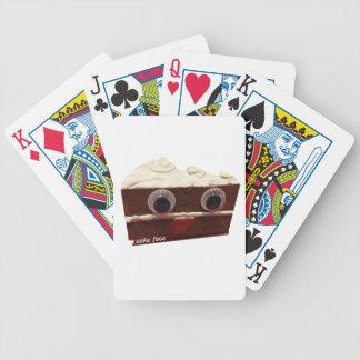 whitey chocolate cake face with logo poker deck