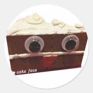 whitey chocolate cake face with logo round sticker