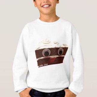 whitey chocolate cake face with logo sweatshirt