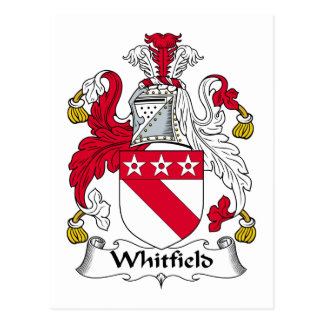 Whitfield Family Crest Postcard