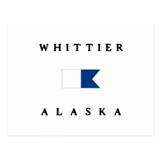 Whittier Alaska Alpha Dive Flag Postcard