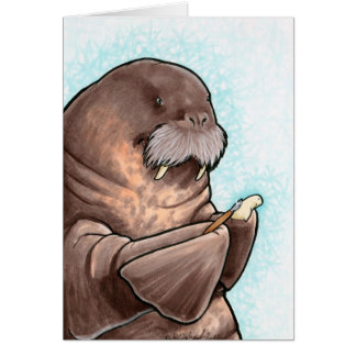 Whittling Walrus Card