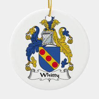 Whitty Family Crest Ceramic Ornament