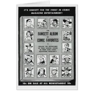 Whiz 1951 Western comic heroes Card