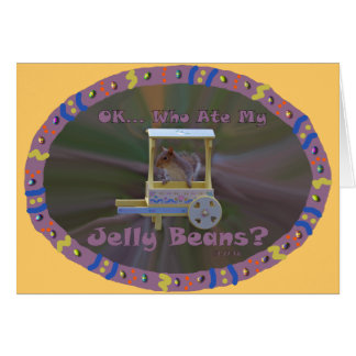 Who Ate My Jelly Beans? Card