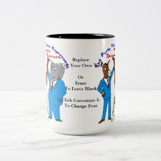 Who Best Represents Middle Incomers? Cup Two-Tone Coffee Mug