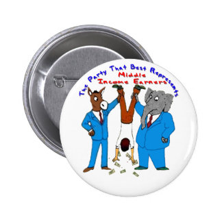 Who Best Represents Middle Incomers? Pin On Button