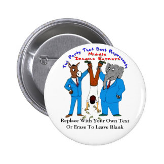 Who Best Represents Middle Incomers Pin On Button