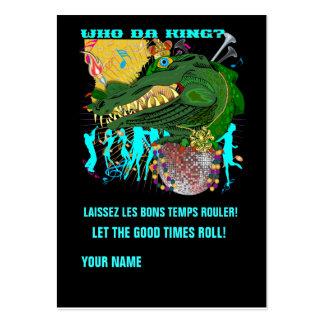 Who Da King? Louisiana Custom Throw Business Card Template