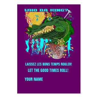 Who Da King? Louisiana Custom Throw Business Card Templates