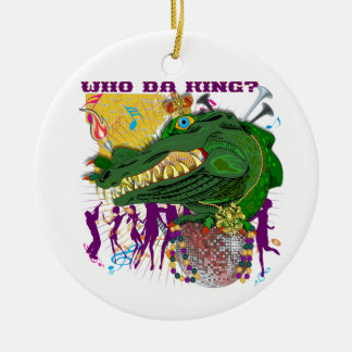 Who Da King? Louisiana Custom Throw Ceramic Ornament