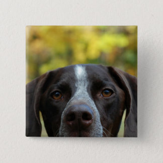 Who Dat Dog? 15 Cm Square Badge
