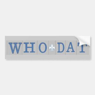 Who Dat t-shirts Bumper Sticker