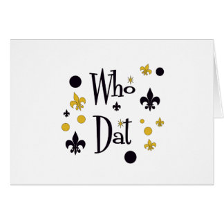 Who Dat t-shirts Card