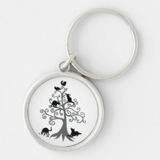 Who do you maintain eye contact? (No sentence) Silver-Colored Round Key Ring