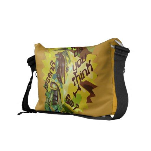 Who do you think I am Rickshaw Messenger Bag