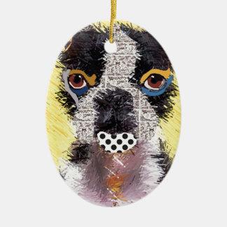Who does not love Bulldog? Ceramic Ornament