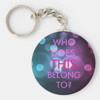 WHO DOES THIS BELONG TO? KEYCHAIN