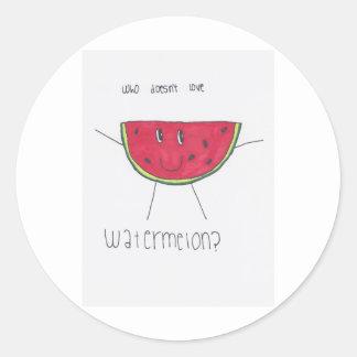 Who doesn't love WATERMELON? Round Sticker