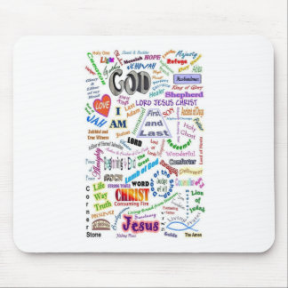 Who He Is...Names of God Mouse Pad