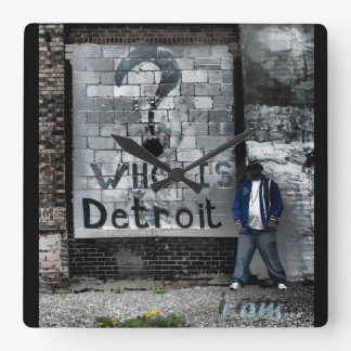 Who is Detroit (wall clock) Square Wall Clock