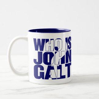 Who is John Galt? 15oz mug blue