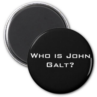 Who is John Galt? 6 Cm Round Magnet
