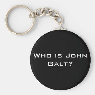 Who is John Galt? Basic Round Button Key Ring