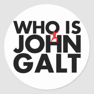 Who is John Galt Classic Round Sticker