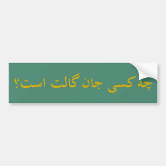 Who is John Galt? (Farsi) Car Bumper Sticker