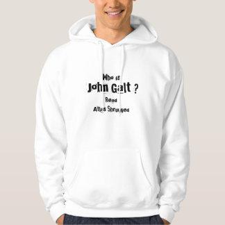 Who is, John Galt ?, ReadAtlas Shrugged Hoodie