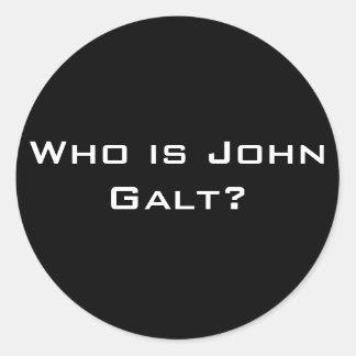 Who is John Galt? Round Sticker